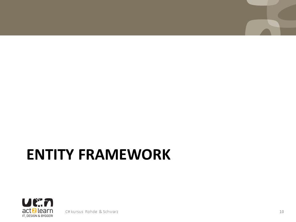 Entity Framework C# kursus Rohde & Schwarz