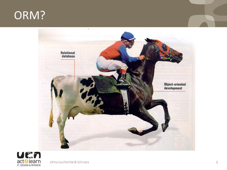 ORM C# kursus Rohde & Schwarz