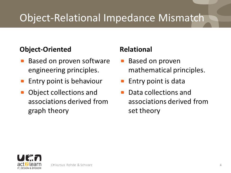 Object-Relational Impedance Mismatch