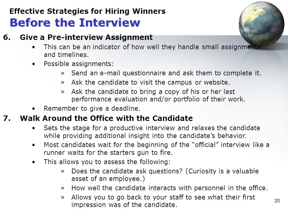 Effective Strategies for Hiring Winners Before the Interview
