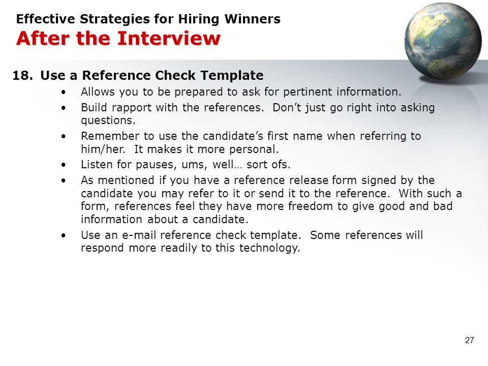 Effective Strategies for Hiring Winners After the Interview