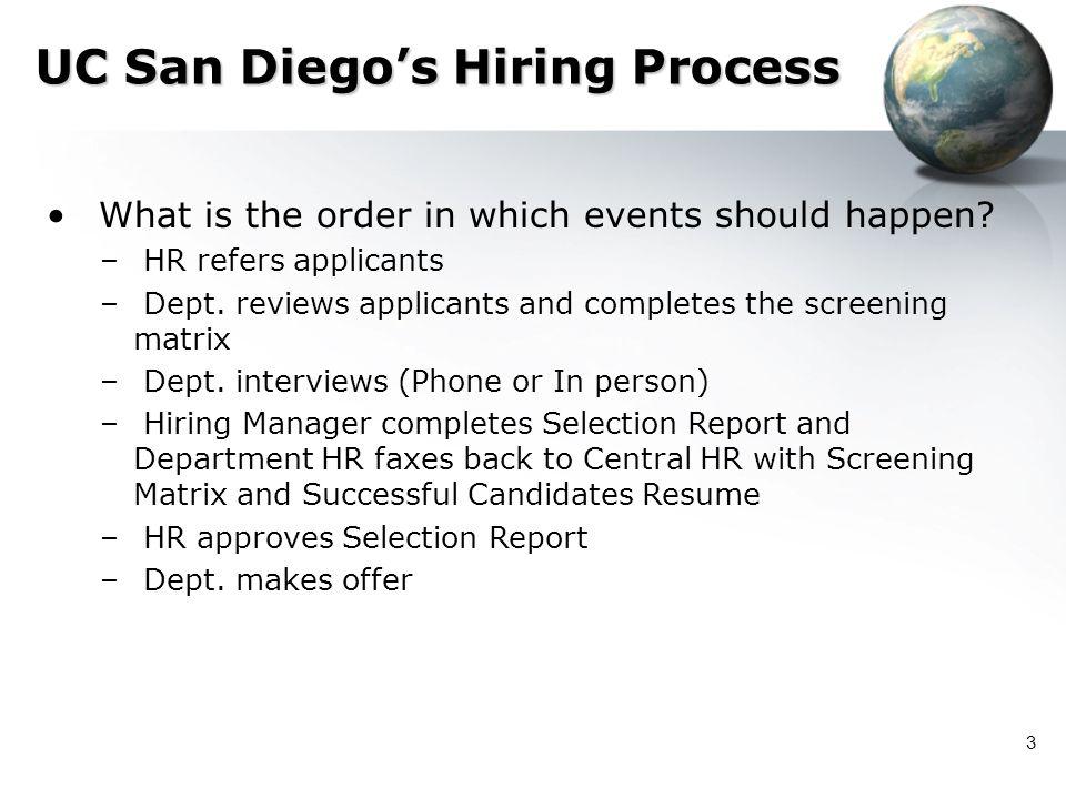 UC San Diego's Hiring Process