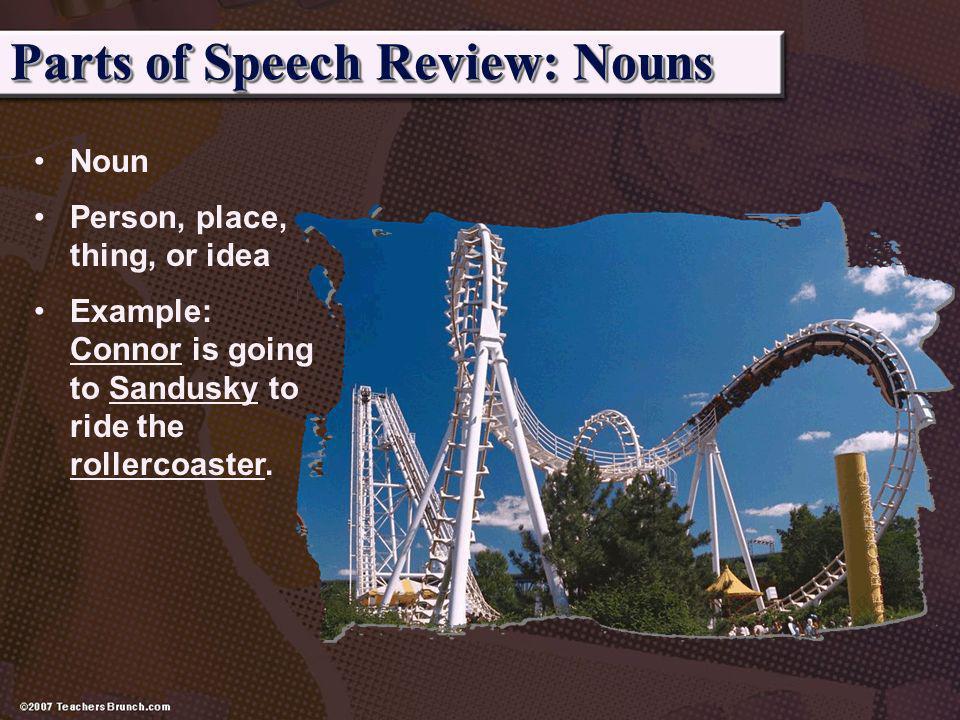 Parts of Speech Review: Nouns