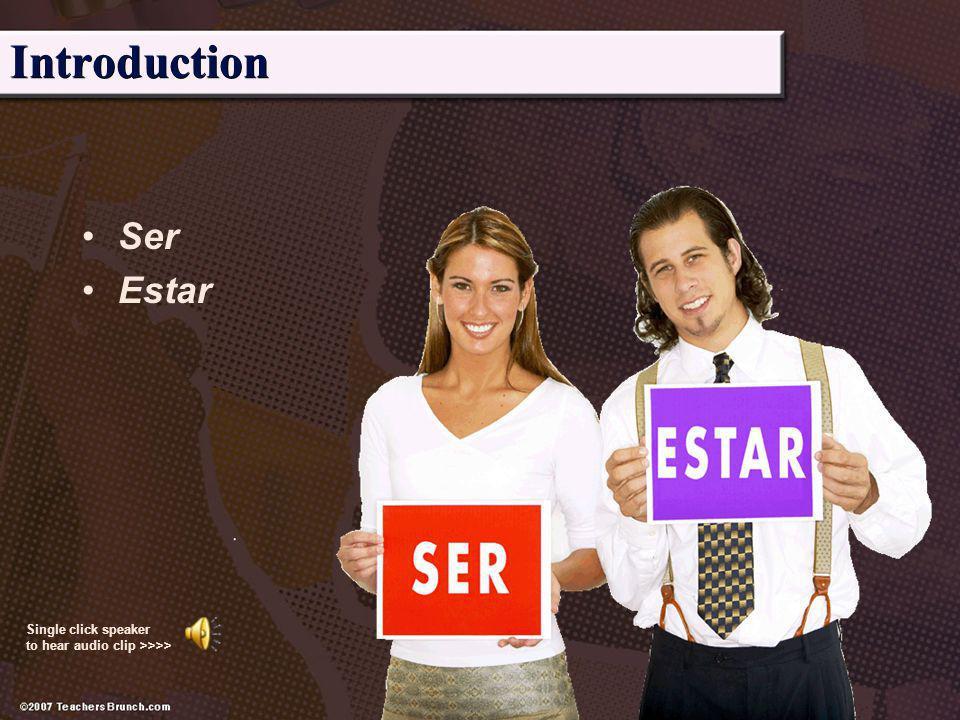 Introduction Ser Estar
