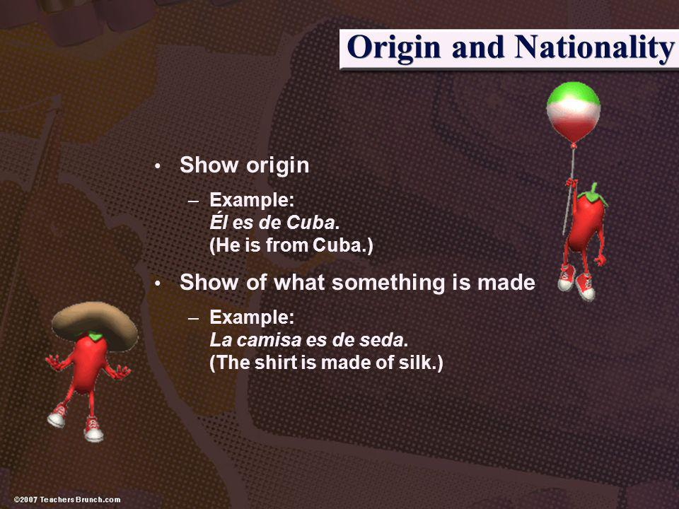 Origin and Nationality
