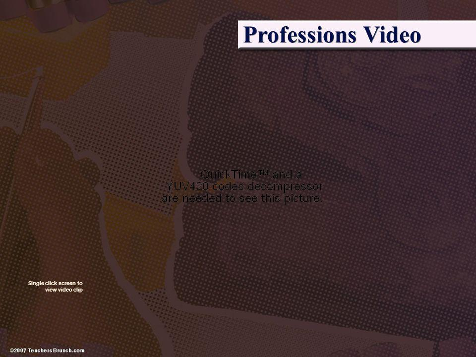 Professions Video Watch this clip on using ser when talking about professions.
