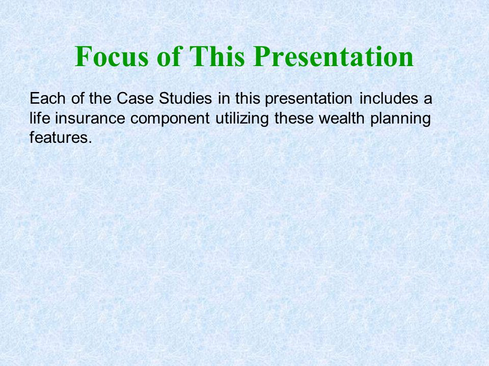 Focus of This Presentation