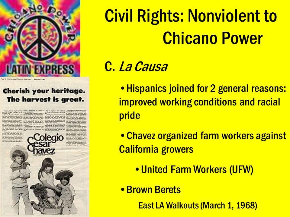 Civil Rights: Nonviolent to Chicano Power