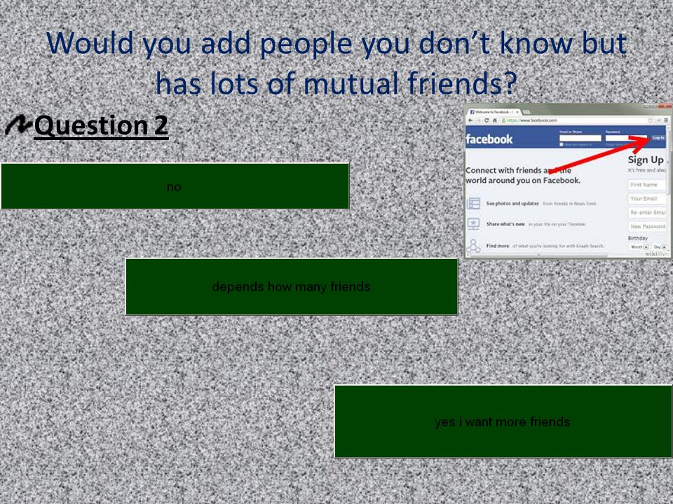 Would you add people you don't know but has lots of mutual friends