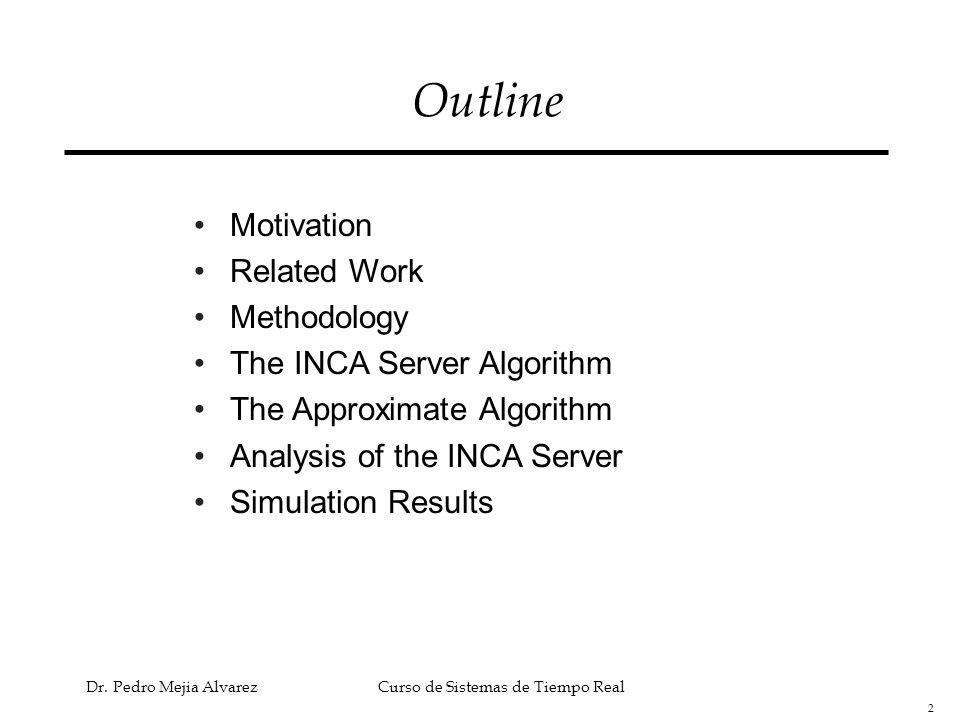 Outline Motivation Related Work Methodology The INCA Server Algorithm