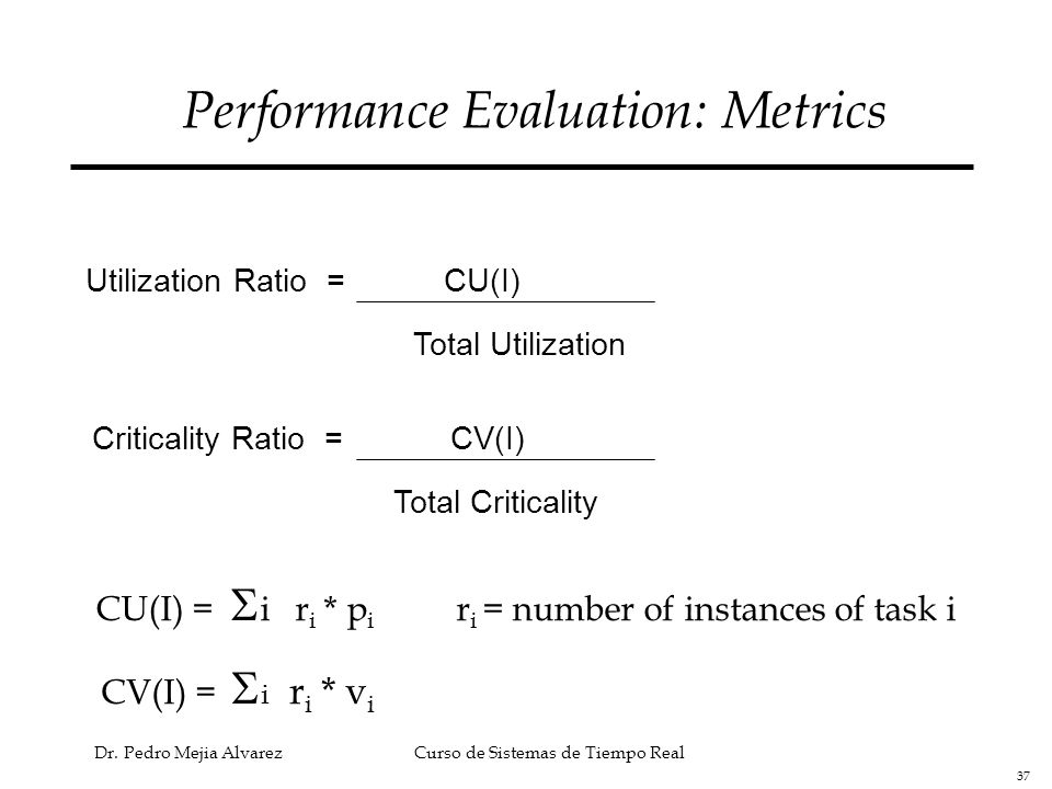Performance Evaluation: Metrics