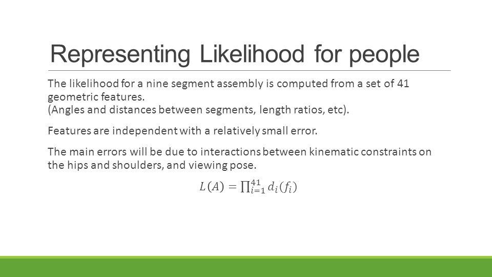 Representing Likelihood for people
