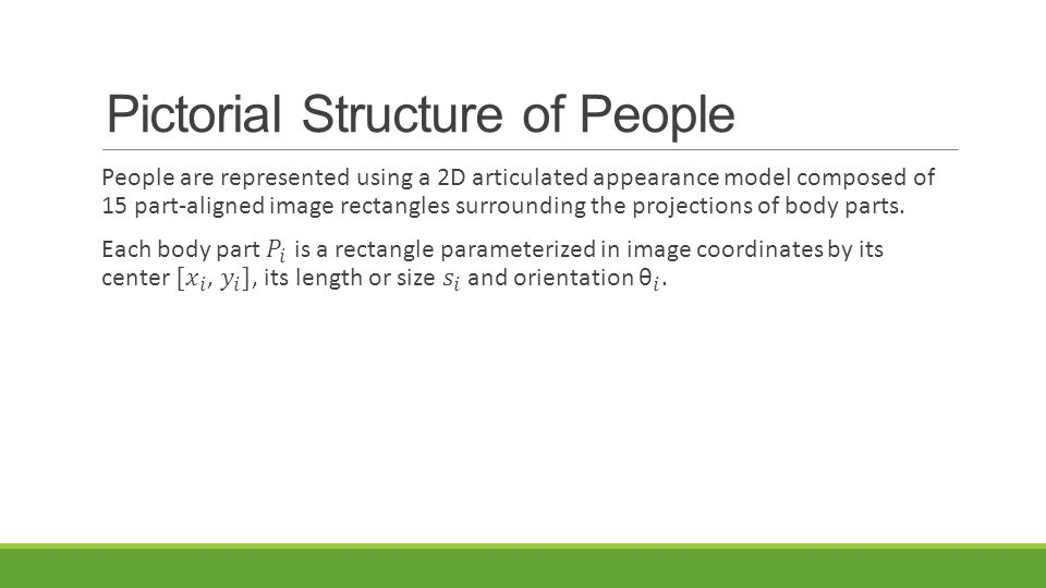 Pictorial Structure of People