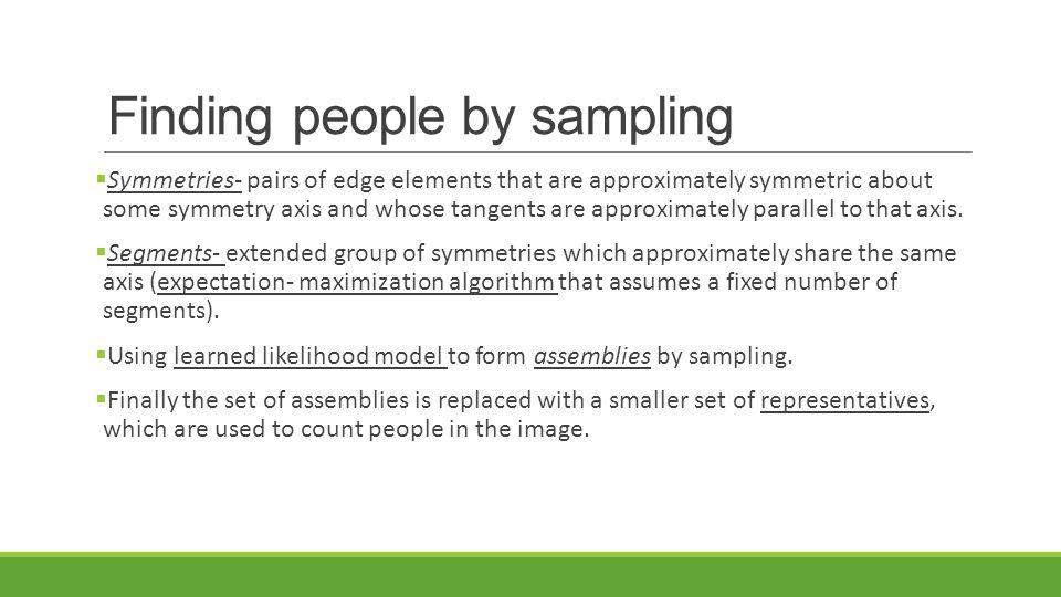 Finding people by sampling