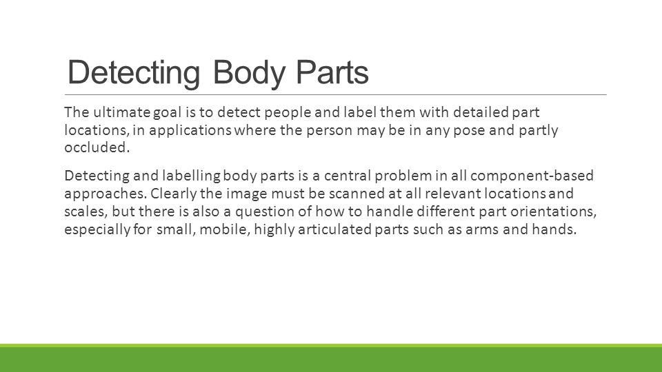 Detecting Body Parts