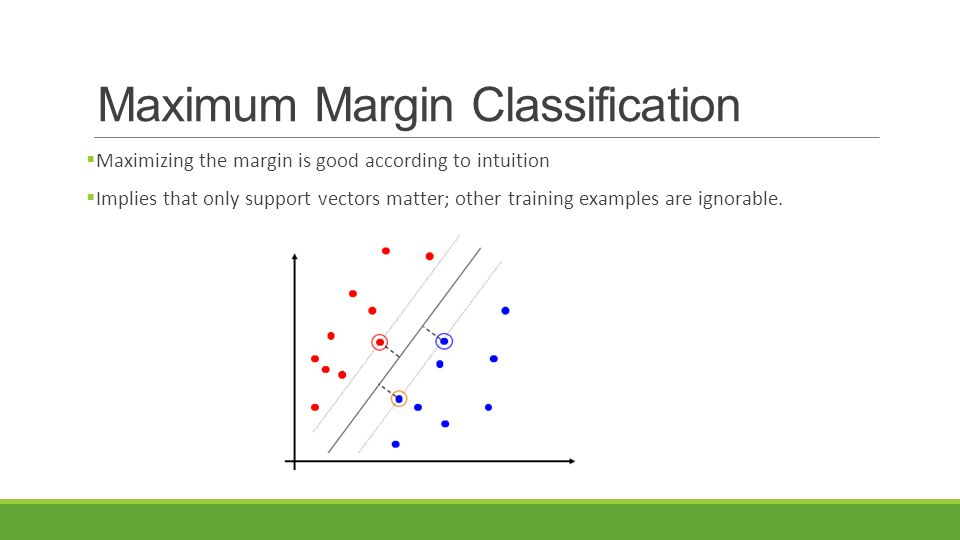 Maximum Margin Classification