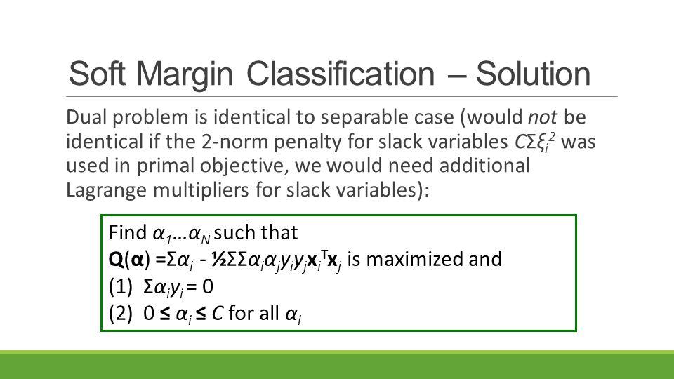 Soft Margin Classification – Solution