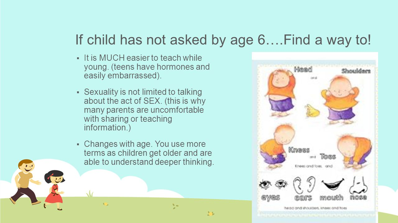 If child has not asked by age 6….Find a way to!