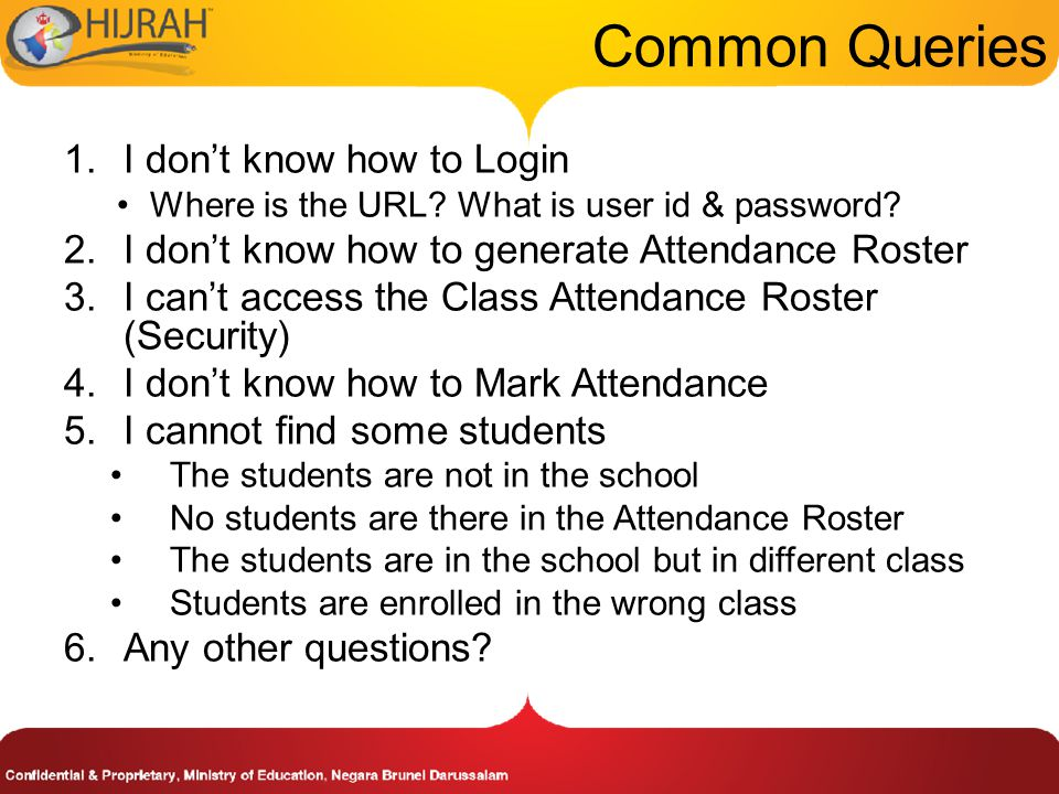 Common Queries I don't know how to Login