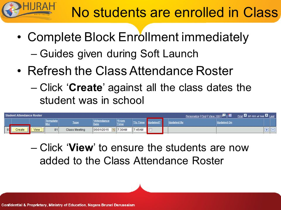 No students are enrolled in Class