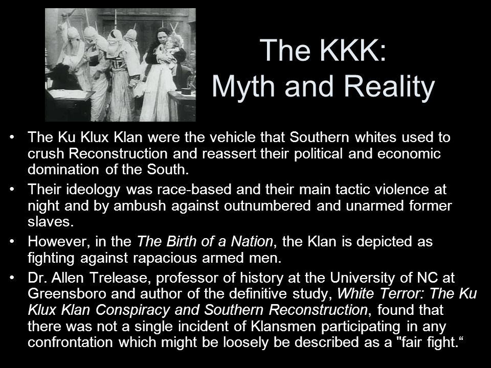 The KKK: Myth and Reality