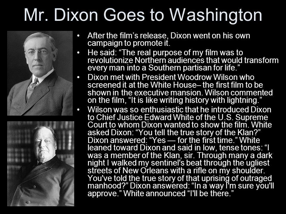 Mr. Dixon Goes to Washington