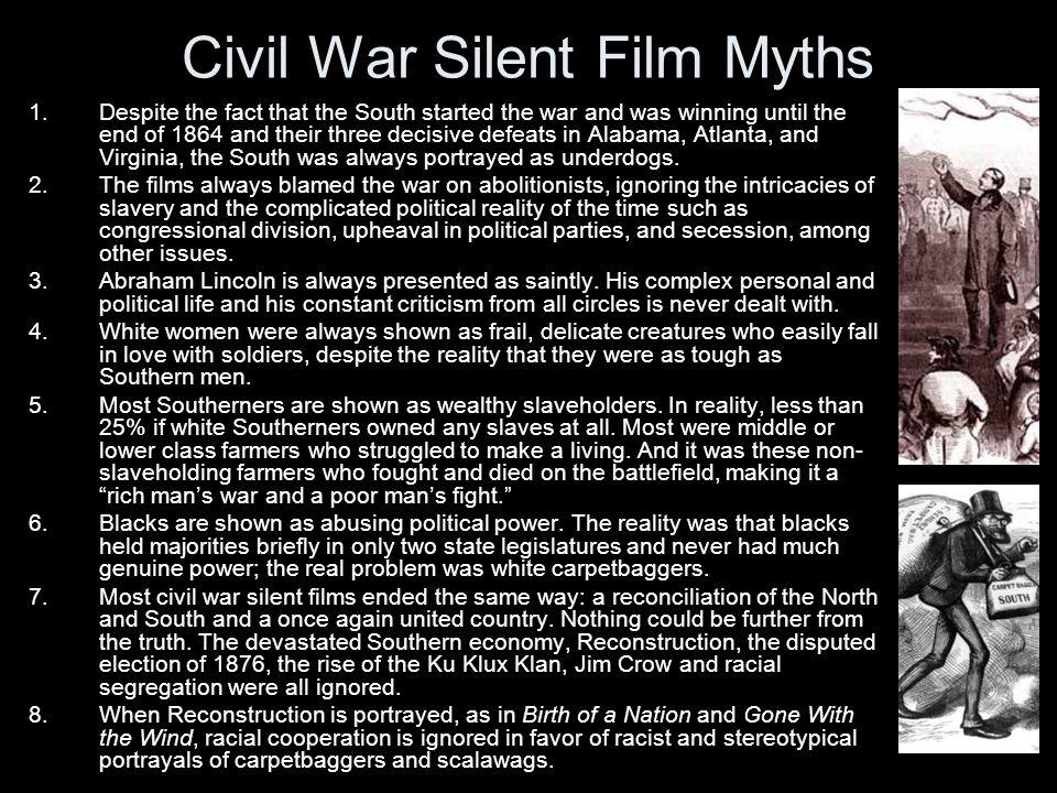 Civil War Silent Film Myths