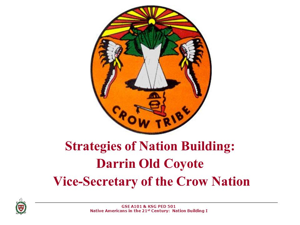 Strategies of Nation Building: Vice-Secretary of the Crow Nation