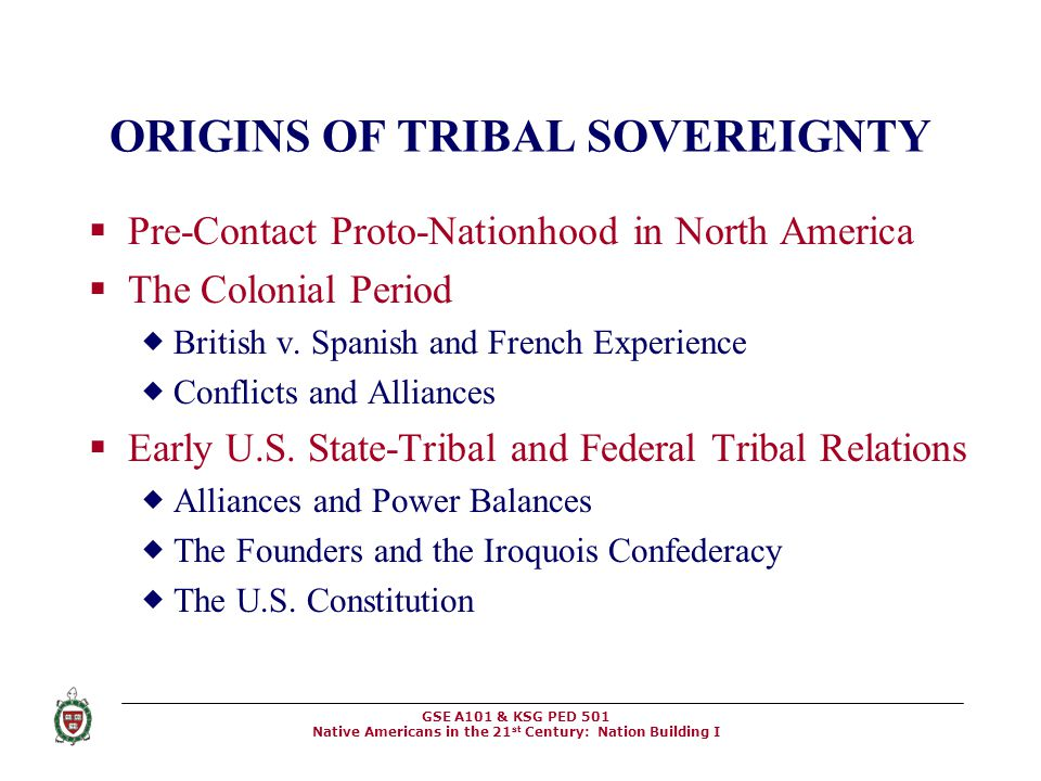 ORIGINS OF TRIBAL SOVEREIGNTY