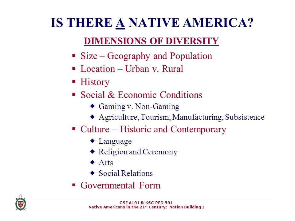 IS THERE A NATIVE AMERICA