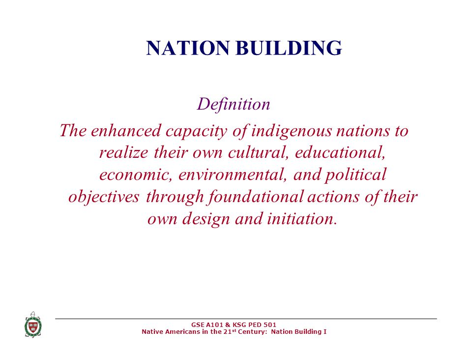 NATION BUILDING Definition