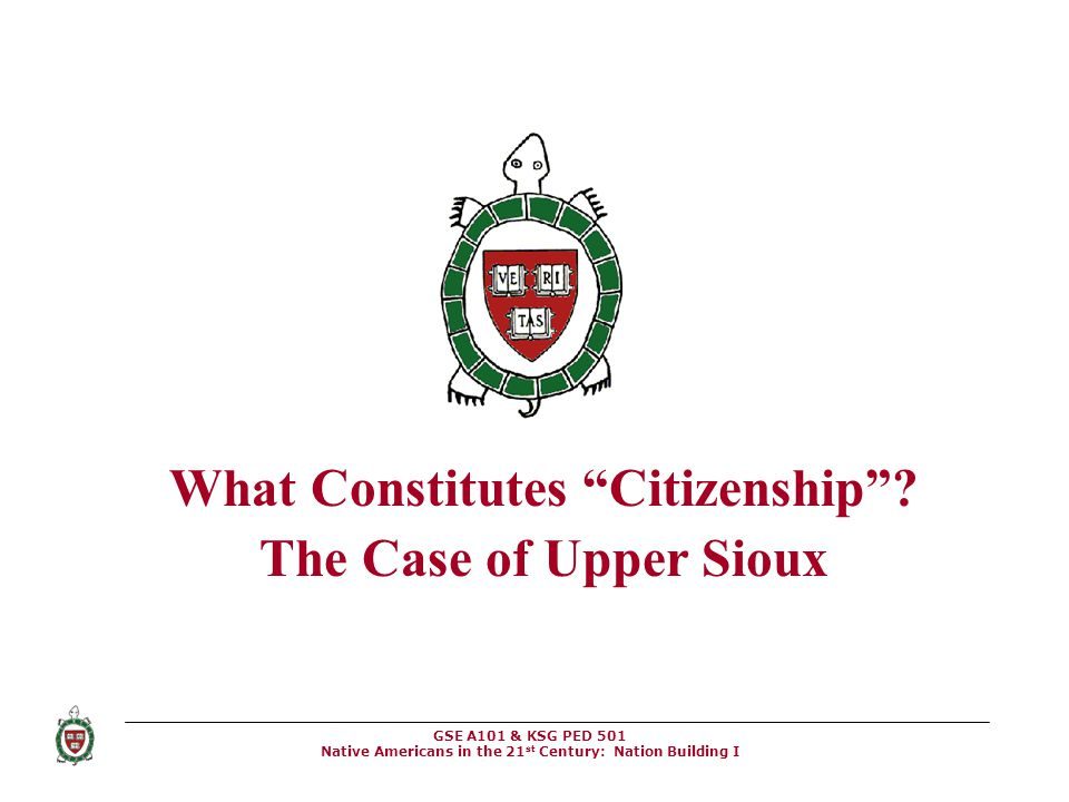 What Constitutes Citizenship The Case of Upper Sioux