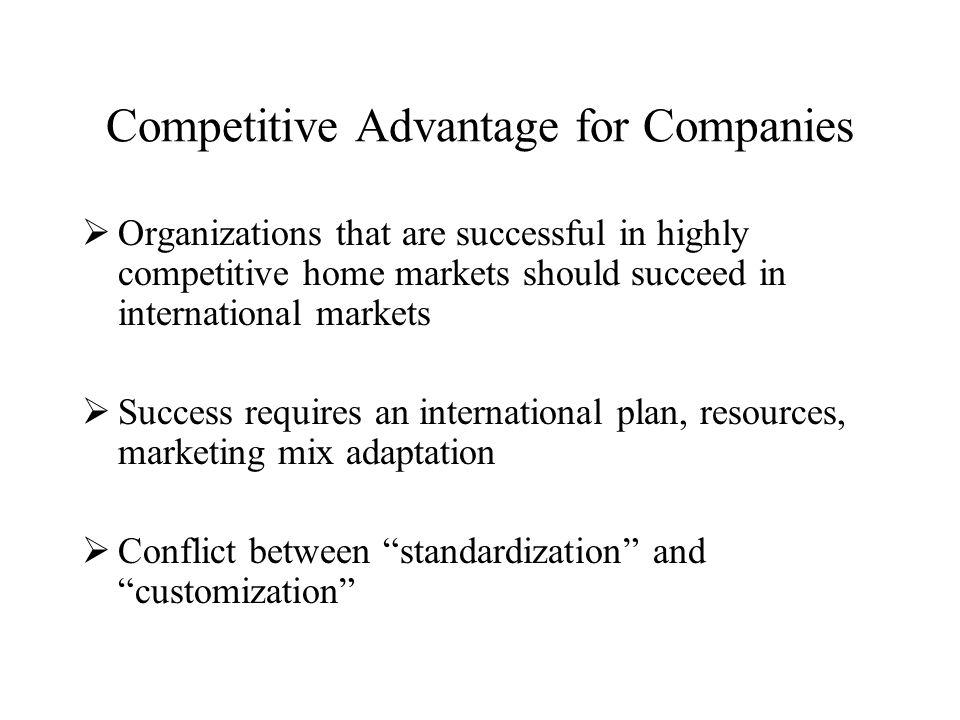 Competitive Advantage for Companies