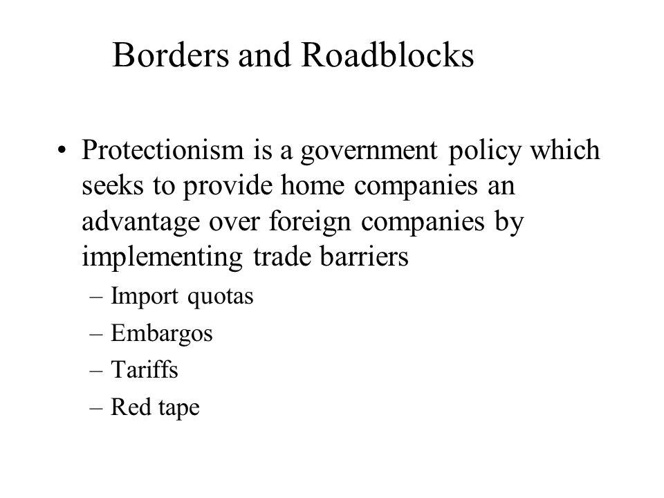 Borders and Roadblocks