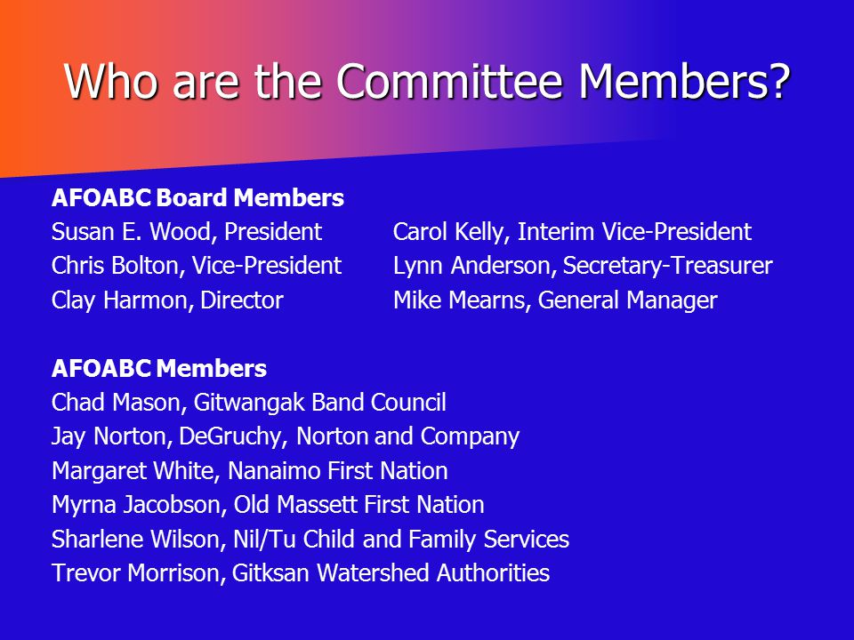 Who are the Committee Members