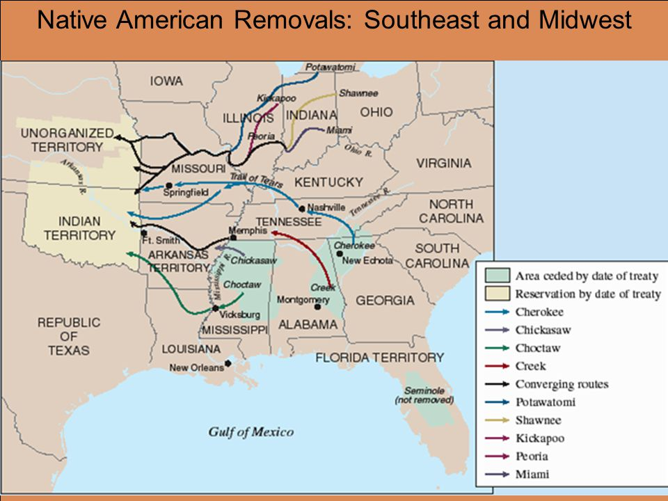 Native American Removals: Southeast and Midwest