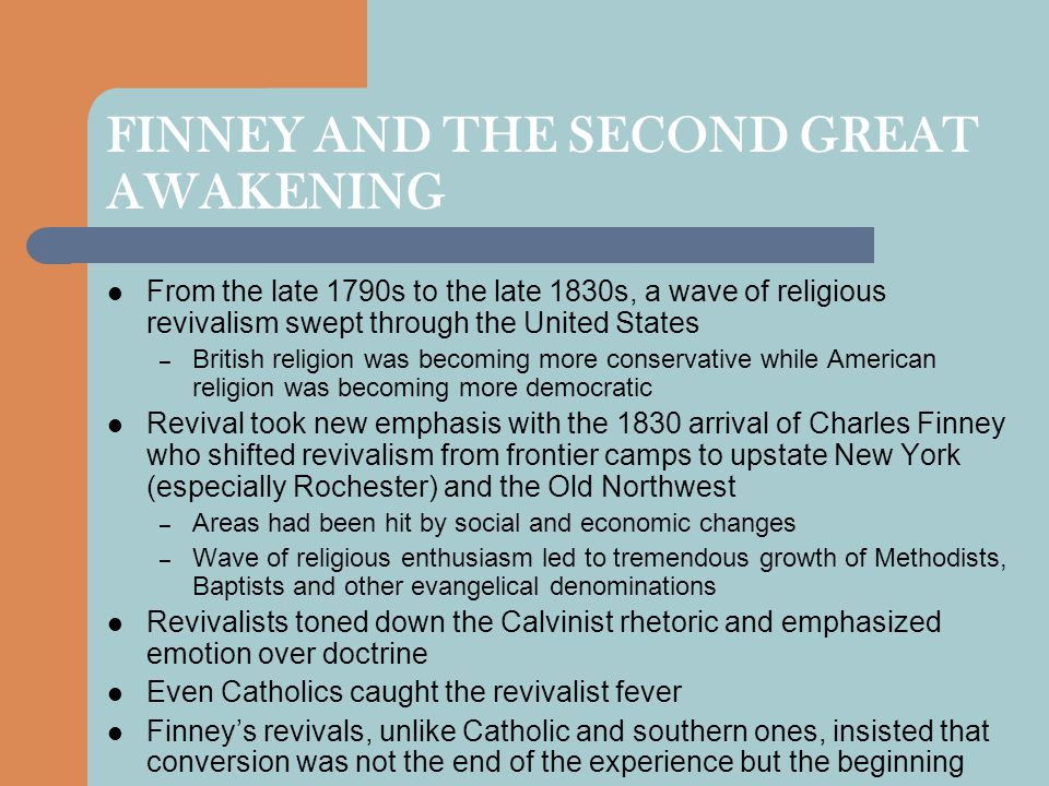 FINNEY AND THE SECOND GREAT AWAKENING