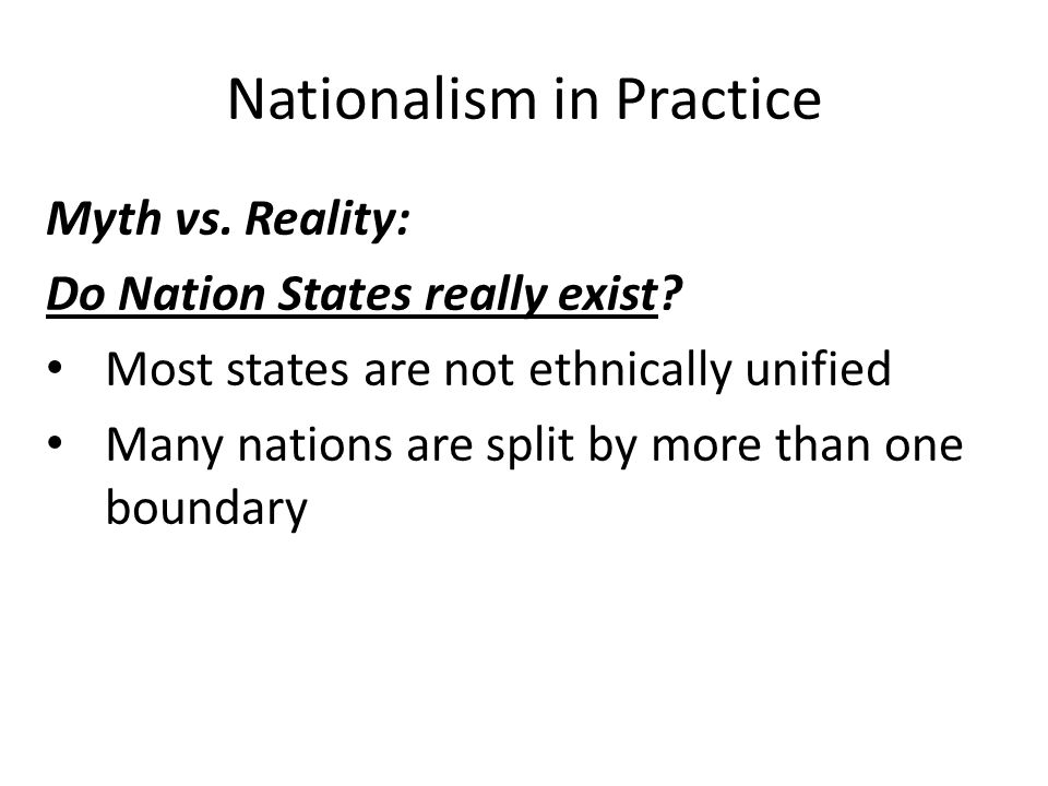 Nationalism in Practice