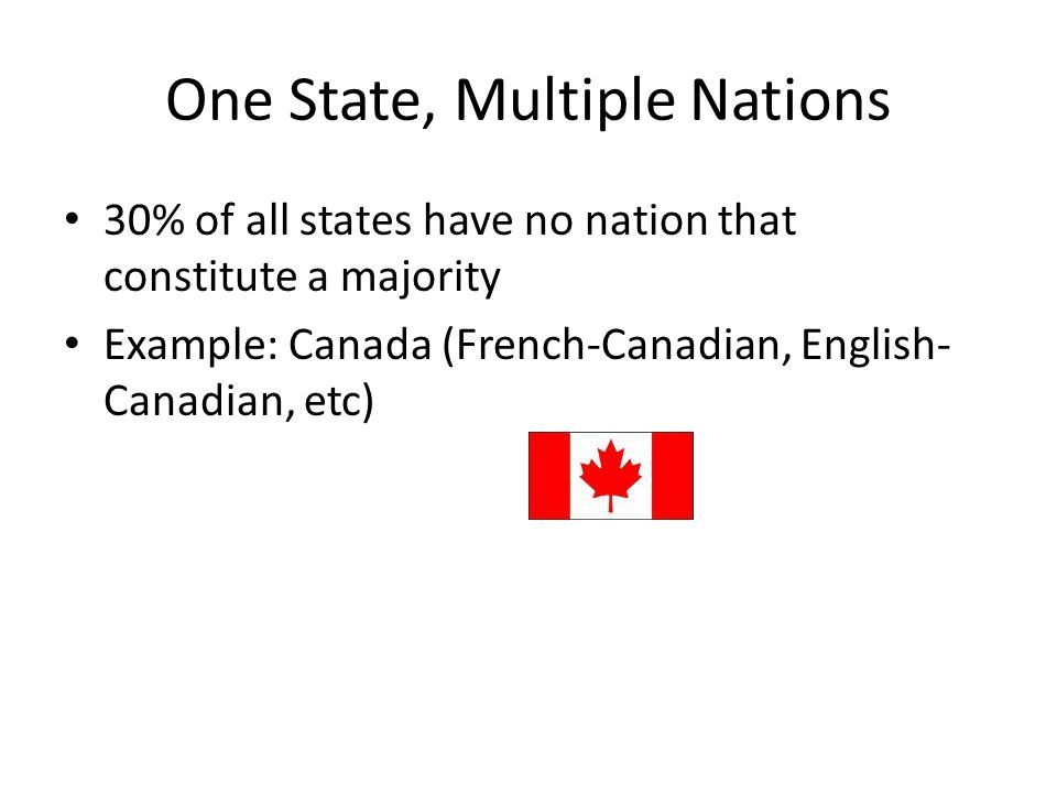 One State, Multiple Nations