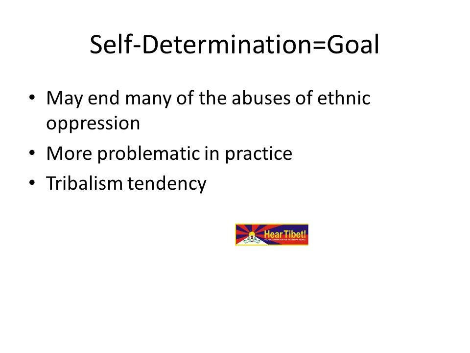 Self-Determination=Goal