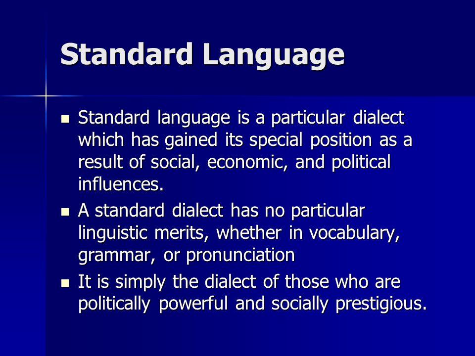Standard Language