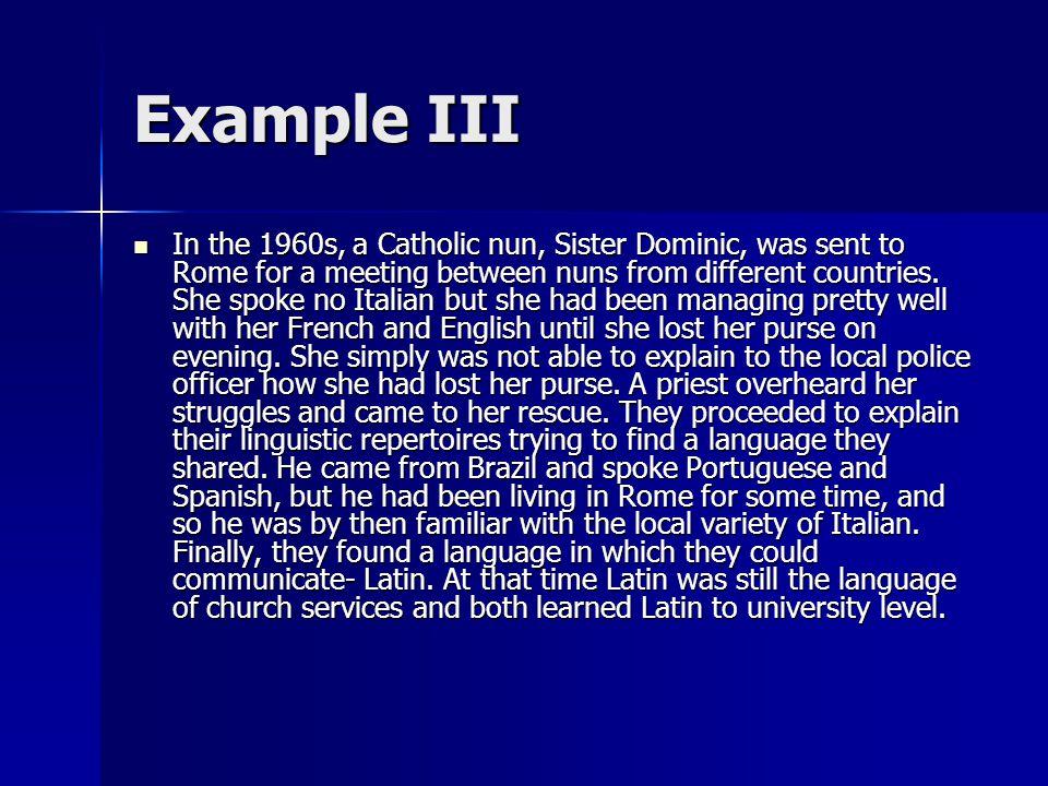 Example III