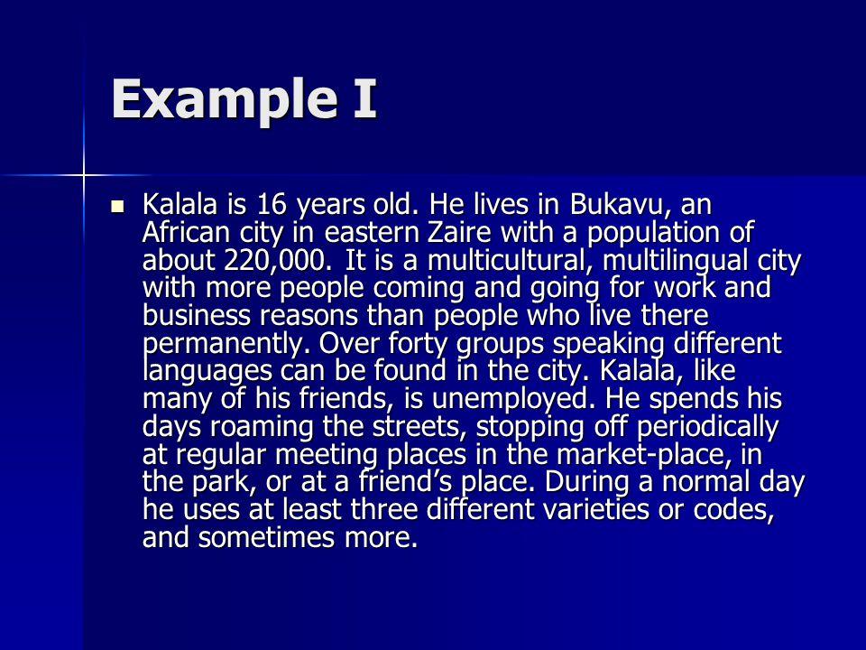 Example I