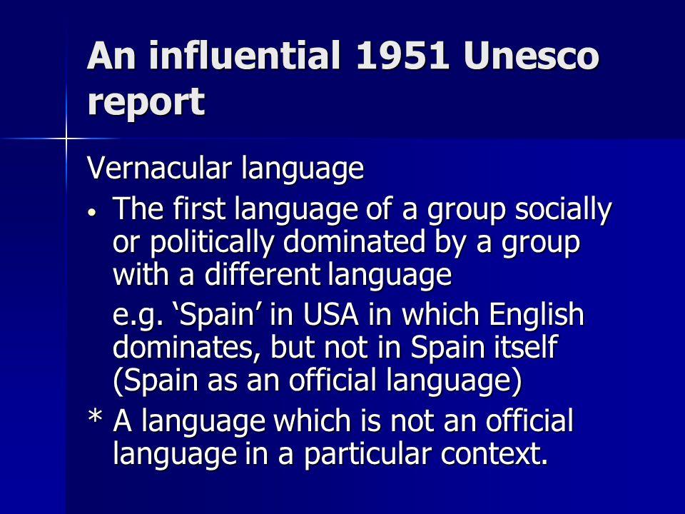 An influential 1951 Unesco report