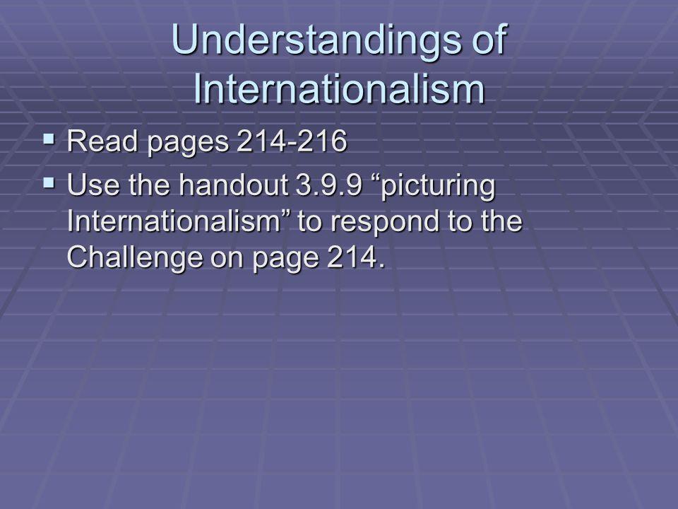 Understandings of Internationalism