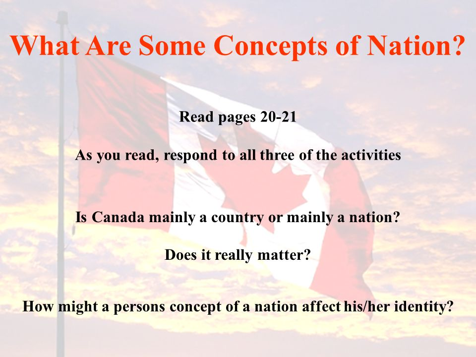 What Are Some Concepts of Nation