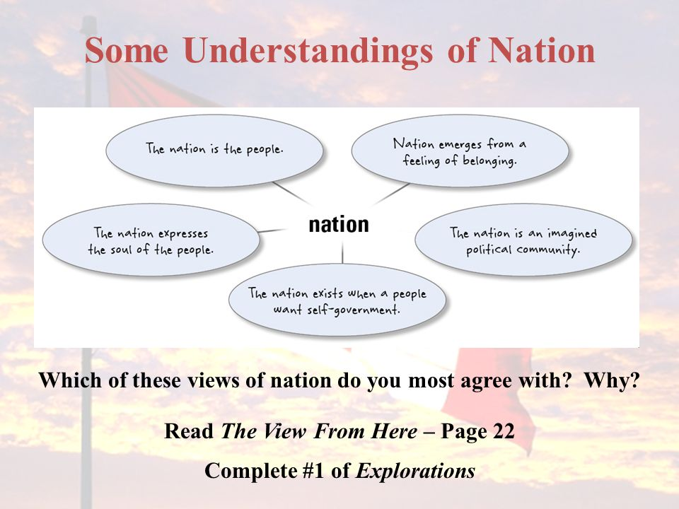 Some Understandings of Nation