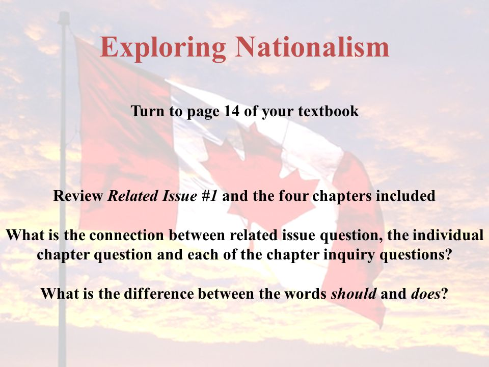 Exploring Nationalism