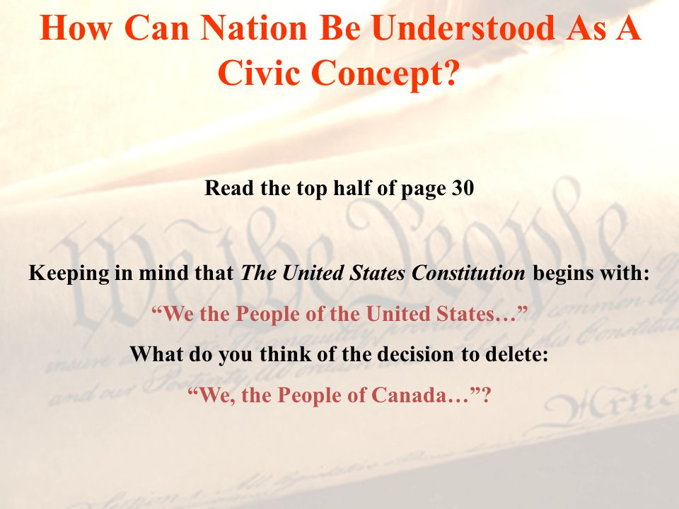 How Can Nation Be Understood As A Civic Concept