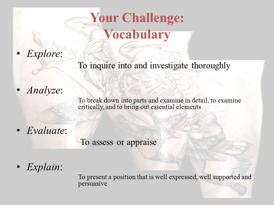 Your Challenge: Vocabulary